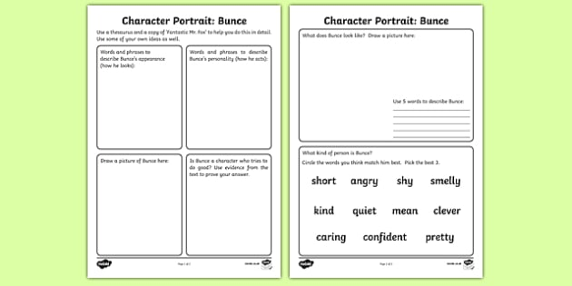 fantastic mr fox worksheets pdf