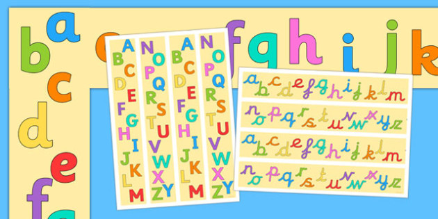 Alphabet A3 Display Borders Pack - alphabet, a3, display, borders