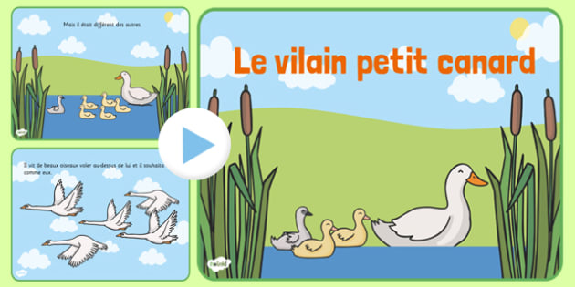 Le vilain petit canard Story PowerPoint French - french, ugly duckling, story, powerpoint