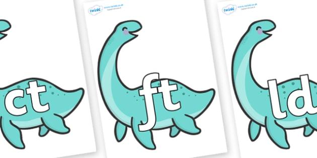 Final Letter Blends on Pleseosaur Dinosaurs - Final Letters, final letter, letter blend, letter blends, consonant, consonants, digraph, trigraph, literacy, alphabet, letters, foundation stage literacy
