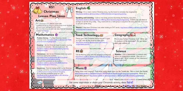 Christmas Lesson Plan Ideas KS1 - christmas, KS1, lesson plan