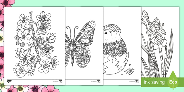 Spring Mindfulness Colouring Pages (teacher made)