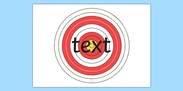 Editable Bullseye Target - editable, bullseye, target, targets