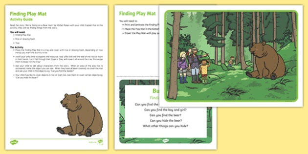 Finding Play Mat Busy Bag Resource Pack for Parents
