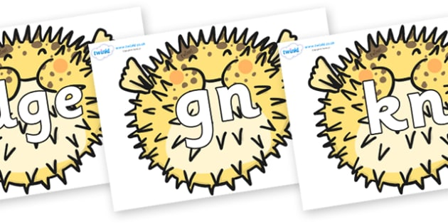 Silent Letters on Pufferfish - Silent Letters, silent letter, letter blend, consonant, consonants, digraph, trigraph, A-Z letters, literacy, alphabet, letters, alternative sounds