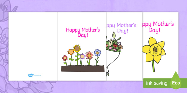 MotherS Day Card Template  Design MotherS Day Card MotherS