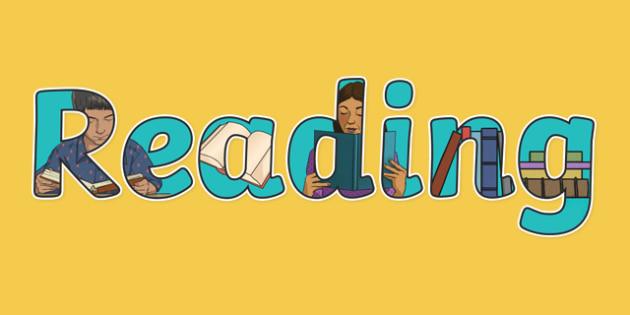 Reading Display Lettering - reading, display lettering, English lettering, English display, English display lettering