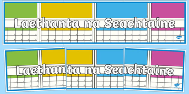 Laethanta na Seachtaine Display Banner