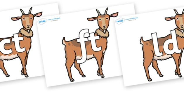 Final Letter Blends on Medium Billy Goats - Final Letters, final letter, letter blend, letter blends, consonant, consonants, digraph, trigraph, literacy, alphabet, letters, foundation stage literacy
