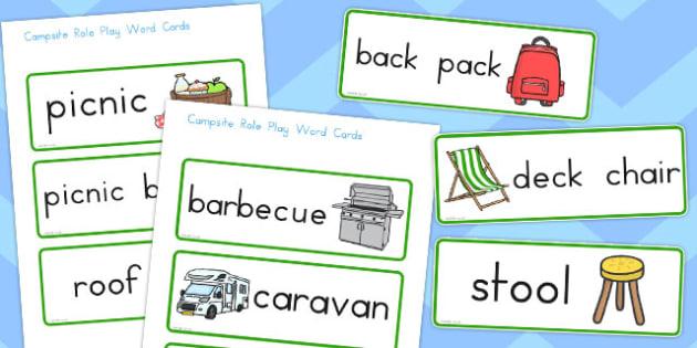 Australia Campsite Word Cards - australia, campsite, word cards
