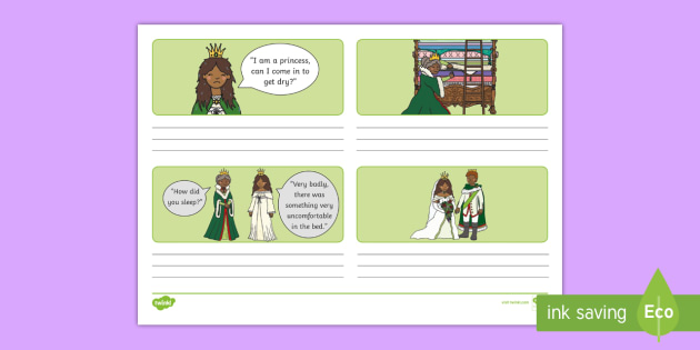 The Princess and the Pea Storyboard Template - storyboard, pea