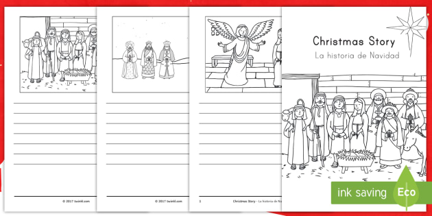 christmas story booklet us english spanish latin christmas