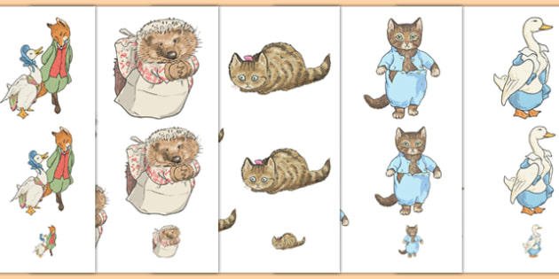 Beatrix Potter Size Ordering - beatrix potter, author, size ordering, size, ordering, order