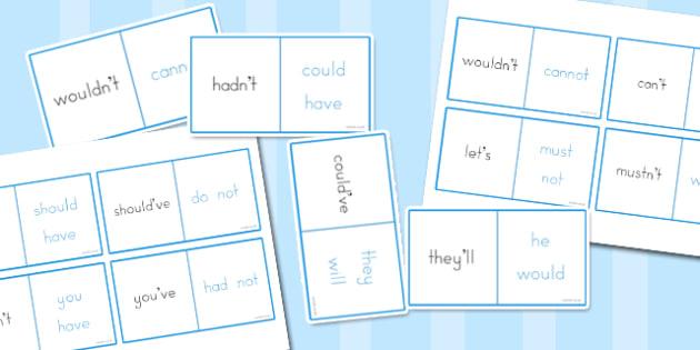 Apostrophe Loop Cards - punctuation, grammar, literacy, punctuate