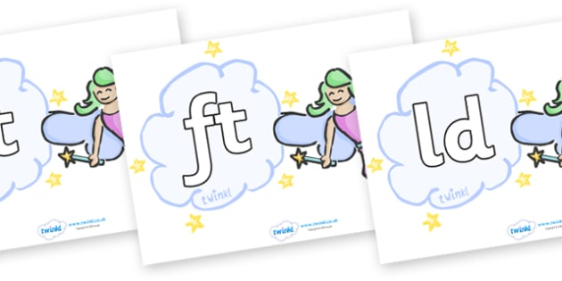 Final Letter Blends on Fairies (Plain) - Final Letters, final letter, letter blend, letter blends, consonant, consonants, digraph, trigraph, literacy, alphabet, letters, foundation stage literacy