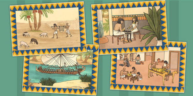 Scenes of Daily Life in Ancient Egypt Poster Pack - scenes, egypt