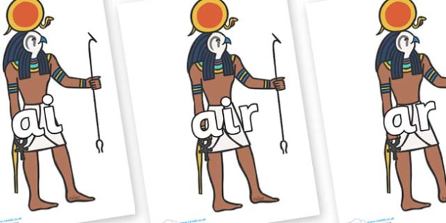 Phase 3 Phonemes on Egyptian Figures - Phonemes, phoneme, Phase 3, Phase three, Foundation, Literacy, Letters and Sounds, DfES, display