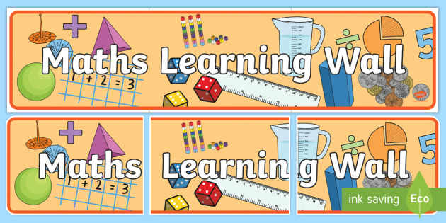 Maths Working Wall Display Pack - maths, working wall, pack