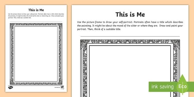 This is Me Worksheet Activity Sheet KS2 New Class Self – Self Portrait Worksheet