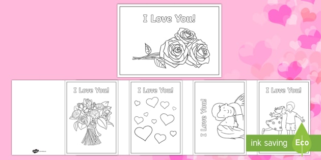 Valentines Day I Love You Cards  Valentines Day Feb 14th