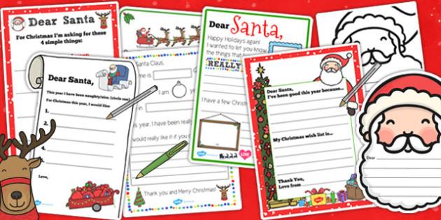 Letter to Santa Resource Pack - letter, santa, resource, pack