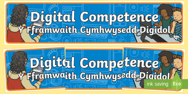 Digital Competence Bilingual Display Banner