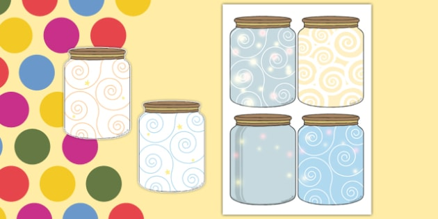 Dream Jar Display Cut-Outs