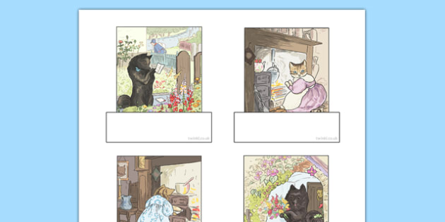 Beatrix Potter - The Tale of the Pie and the Patty Pan Editable Self-Registration - beatrix potter, pie and the patty pan,