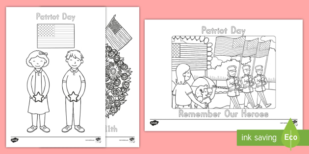 Patriot Day Coloring Pages  september 11th patriot day 911