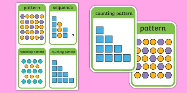 CfE First Level Numeracy and Mathematics Patterns and Relationships Keyword Flashcards-Scottish