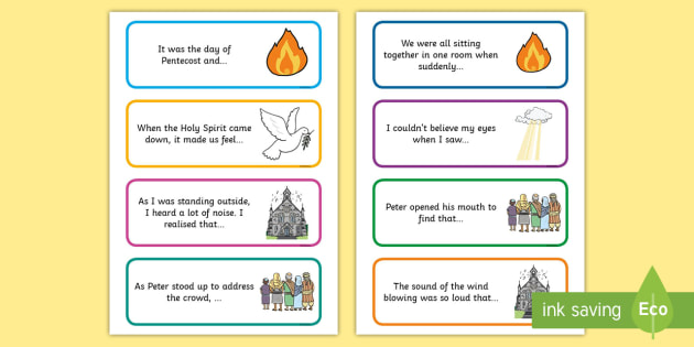 Pentecost Story Starter Cards Story Starters Writing border=