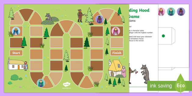 EYFS Little Red Riding Hood Board Game - EYFS, Early Years, Little Red Riding Hood, traditional tales, count, counting, dice, game, board