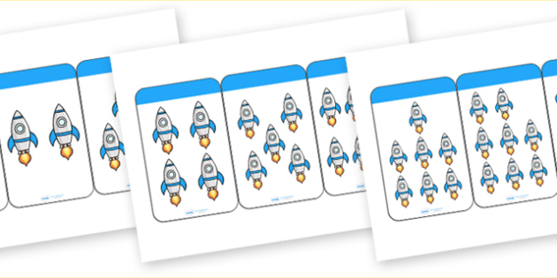 Count the Rockets Activity Cards (1-20) - Maths, Math, rockets, rocket, counting, Counting on, Counting back, counting card, counting activity, one to one counting, flashcard, matching cards