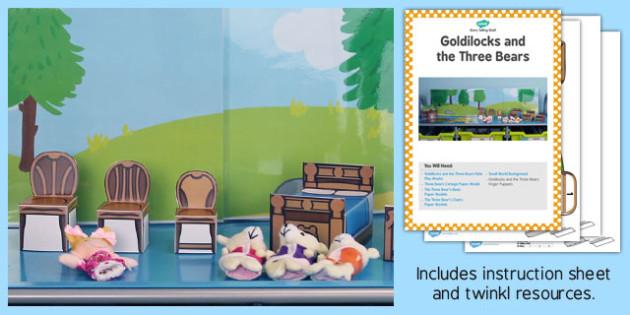 Goldilocks Three Bears Storytelling Shelf Printable Resource Pack