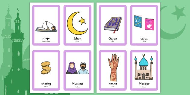 Eid Pairs Matching Game Arabic Translation - arabic, eid, pairs