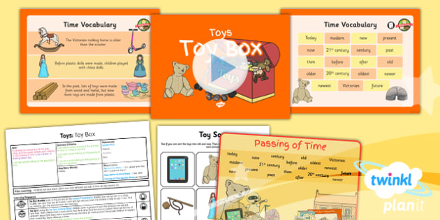 History: Toys: Toy Box KS1 Lesson Pack 6