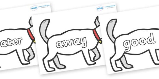 Next 200 Common Words on White Dog to Support Teaching on Brown Bear, Brown Bear - Next 200 Common Words on  - DfES Letters and Sounds, Letters and Sounds, Letters and sounds words, Common words, 200 common words