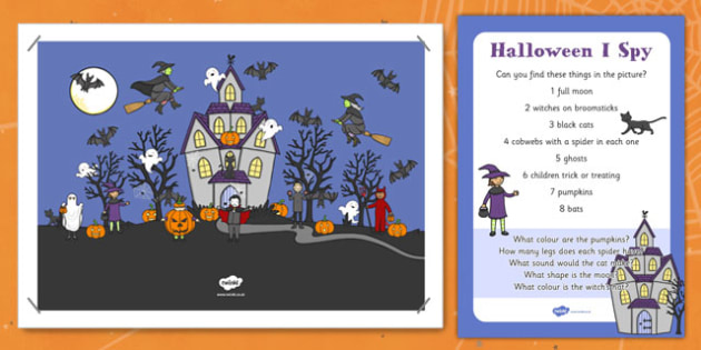 Halloween Can You Find Poster and Prompt Card Pack - halloween, can you find, poster, prompt, card, pack
