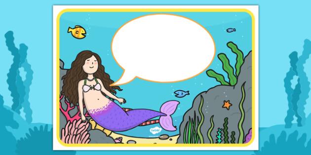 Editable Mermaid Display Posters - Mermaid, fantasy, display, editable, topic, fantasy, A4, display, poster, sea, seaside, under the sea