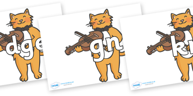 Silent Letters on Cat and Fiddle - Silent Letters, silent letter, letter blend, consonant, consonants, digraph, trigraph, A-Z letters, literacy, alphabet, letters, alternative sounds