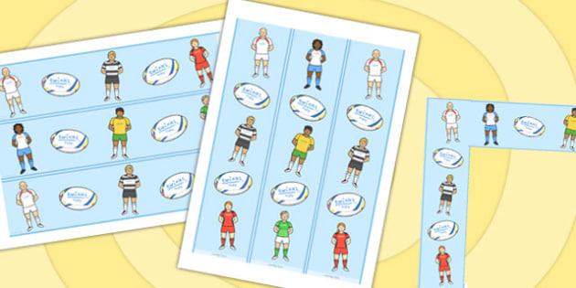 Rugby Display Borders - rugby, display borders, display, borders