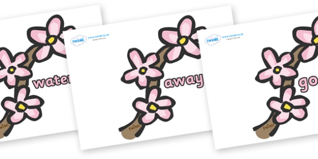 Next 200 Common Words on Spring Blossom - Next 200 Common Words on  - DfES Letters and Sounds, Letters and Sounds, Letters and sounds words, Common words, 200 common words