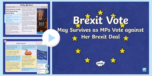 new uks2 brexit votes daily news powerpoint brexit theresa may eu