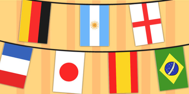 World Cup 2014 A4 Flag Bunting 32 Countries - football, sport