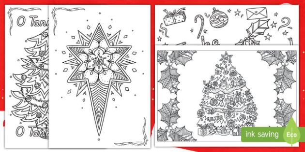 Mindfulness Weihnachten Anmalbilder