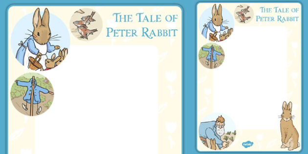 The Tale of Peter Rabbit Editable Note - peter rabbit, editable, note