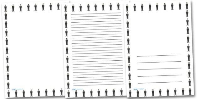 Churchill Portrait Page Borders- Portrait Page Borders - Page border, border, writing template, writing aid, writing frame, a4 border, template, templates, landscape