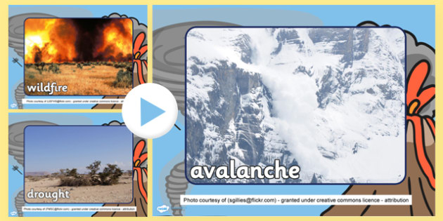 Natural Disasters Photo PowerPoint - natural disasters, photos
