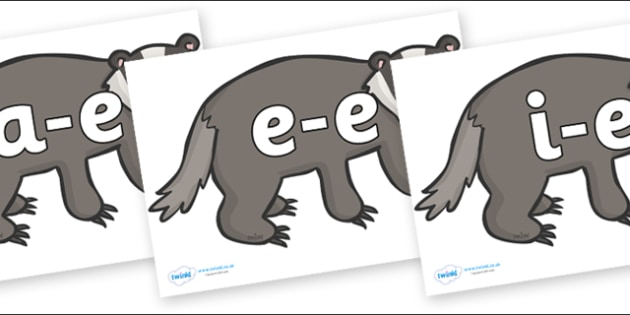 Modifying E Letters on Badgers - Modifying E, letters, modify, Phase 5, Phase five, alternative spellings for phonemes, DfES letters and Sounds