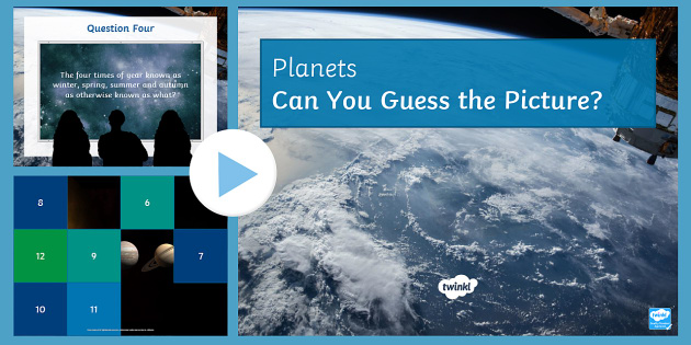 Planets Quiz PowerPoint - PowerPoint Quiz, Planets, Space, Satellite, Gravity, Hemispheres, Day, Year